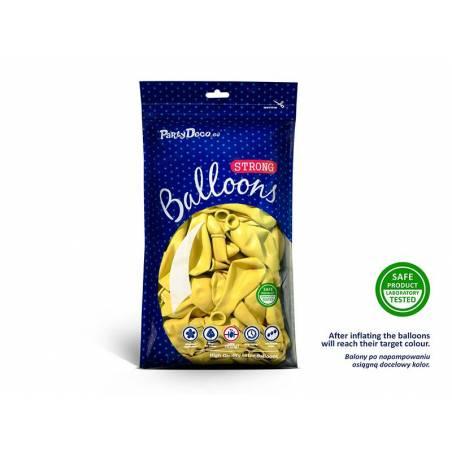 Ballons forts 23cm zeste de citron pastel