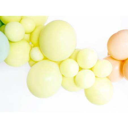Ballons forts 23cm jaune pâle pastel
