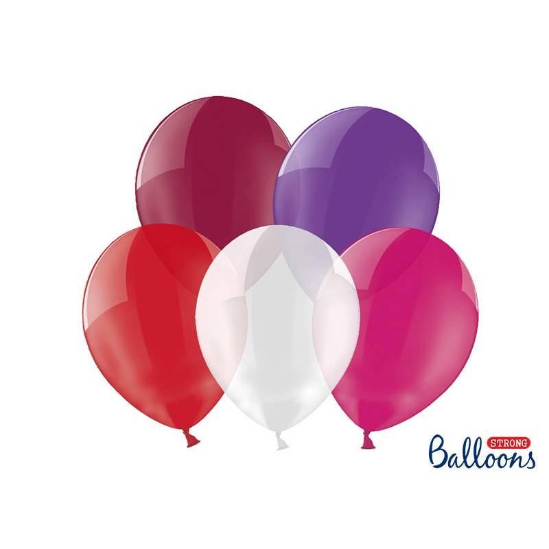 Ballons forts 27cm mélange de cristaux