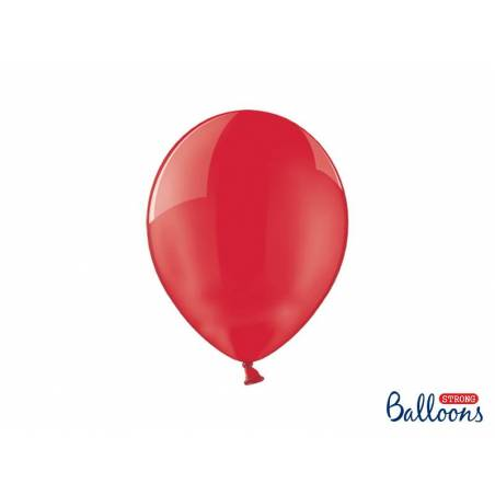 Ballons forts 27cm Crystal Poppy Red