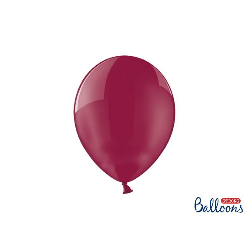 Ballons forts 27cm Crystal Maroon