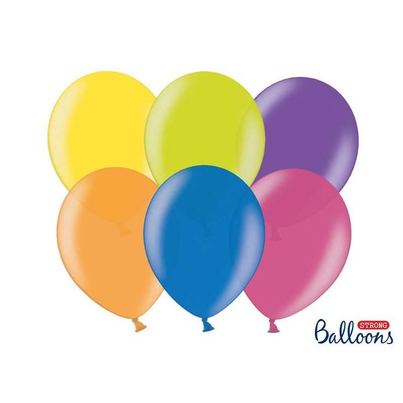 Ballons forts 27cm mélange métallique