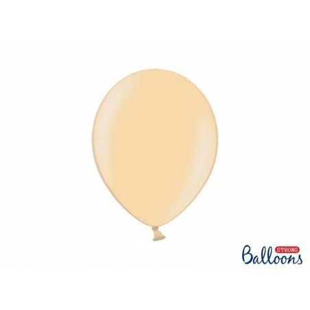 Ballons forts 27cm orange vif métallique