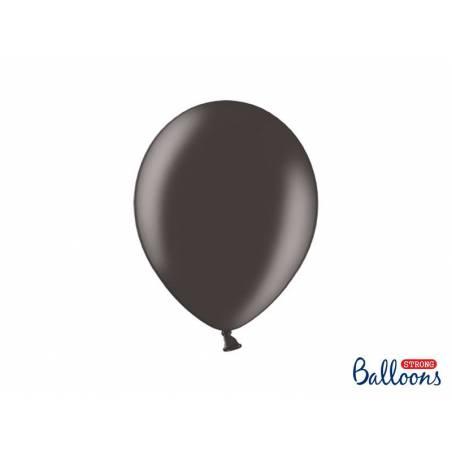 Ballons forts 27cm noir métallique