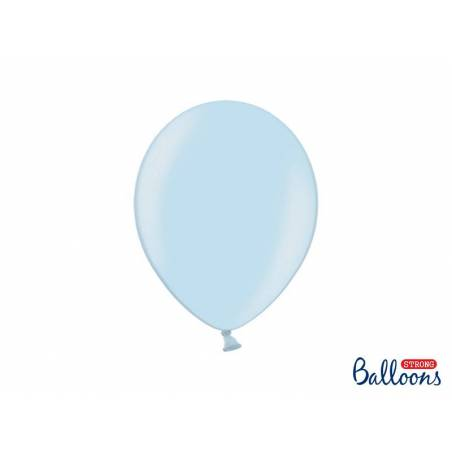 Ballons forts 27cm bleu métallisé métallisé