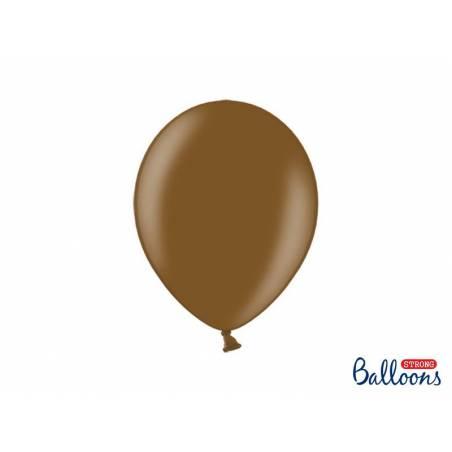 Ballons forts 27cm brun chocolat métallique