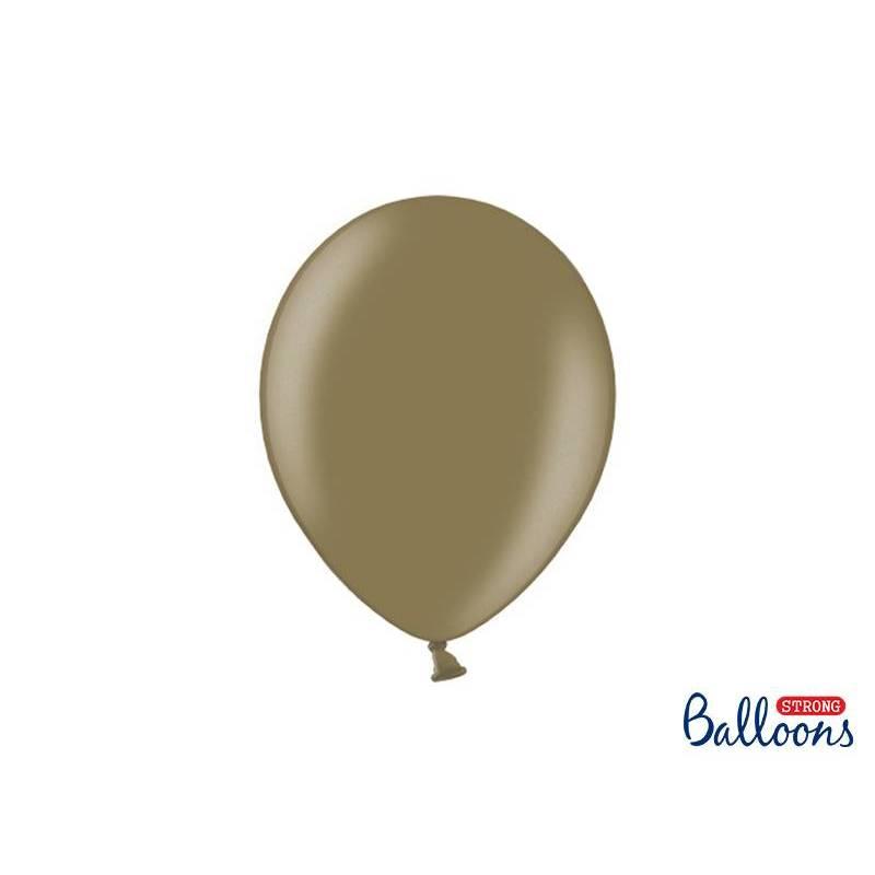 Ballons forts 27cm Cappuccino métallique