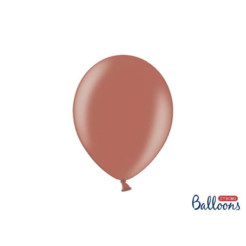 Ballons forts 27cm terre de Sienne métallique