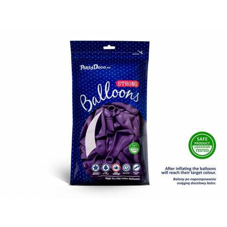 Ballons forts 27cm violet métallique