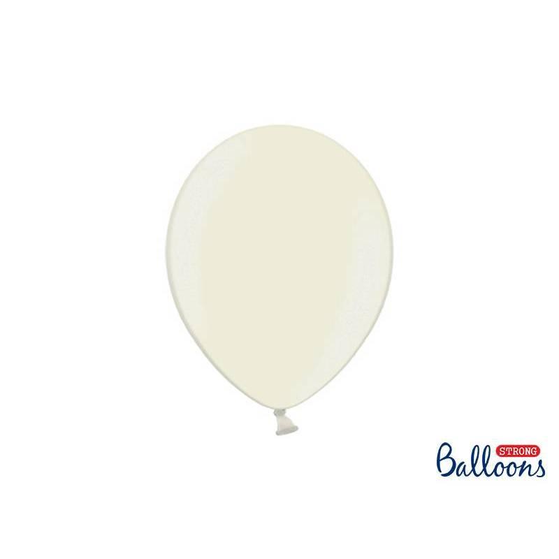 Ballons forts 27cm crème légère métallique