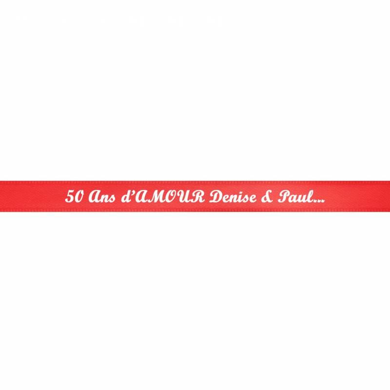 10 mètres-Simple Satin Imprimé-Ruban personnalisé avec votre texte//image