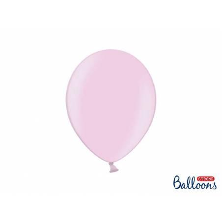 Ballons forts 27cm rose métallisé bonbon