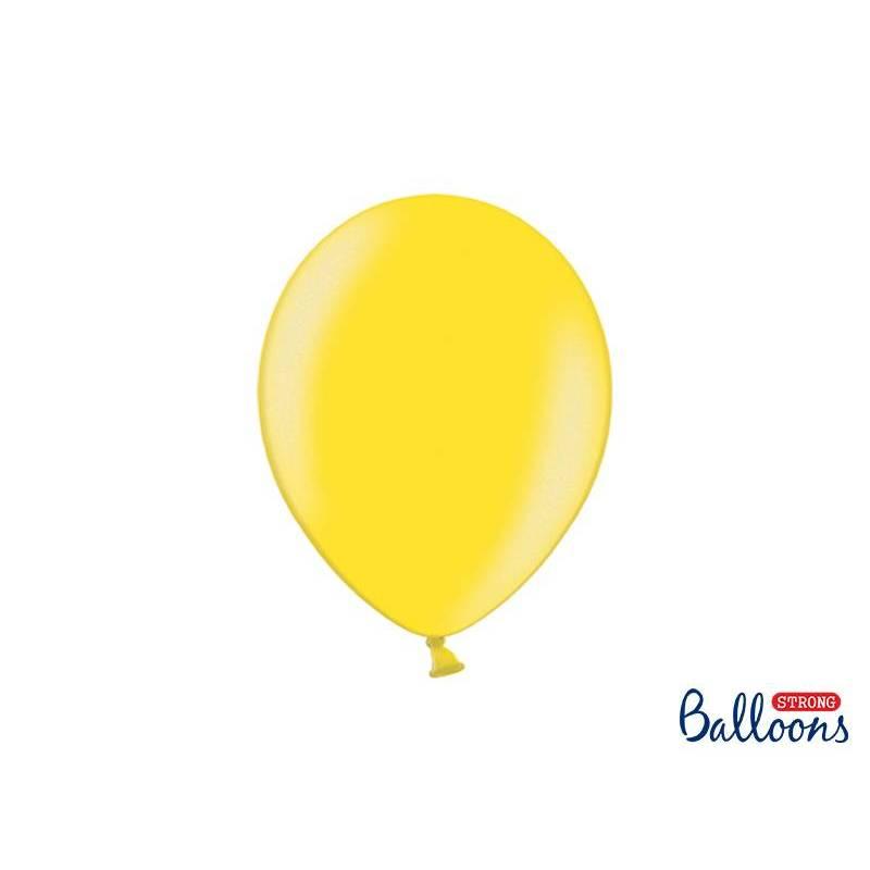 Ballons forts 27cm zeste de citron métallique