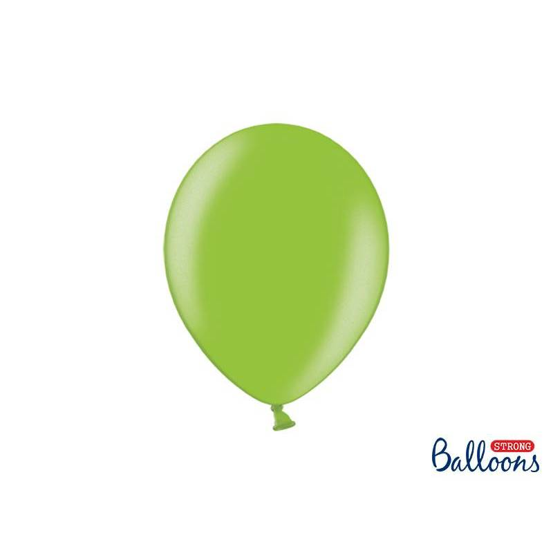 Ballons forts 27cm vert vif métallique