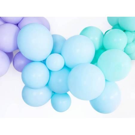 Ballons forts 27cm bleu clair pastel