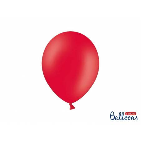 Ballons forts 27cm rouge pavot pastel