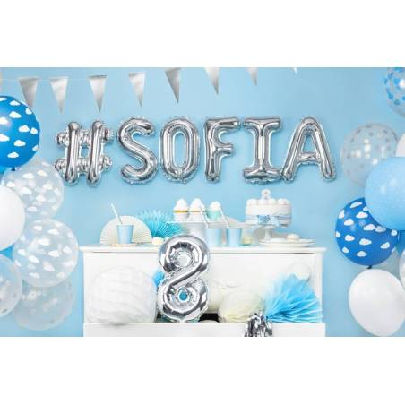 Ballons forts 27cm blanc pur pastel
