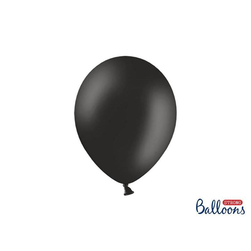 Ballons forts 27cm noir pastel