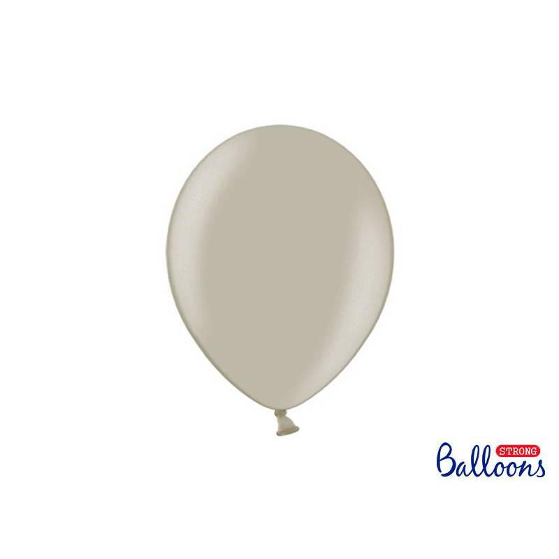 Ballons forts 27cm gris pastel chaud