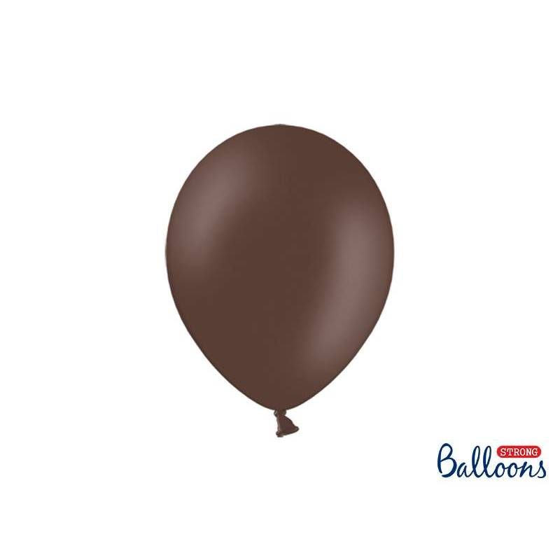 Ballons forts 27cm brun cacao pastel