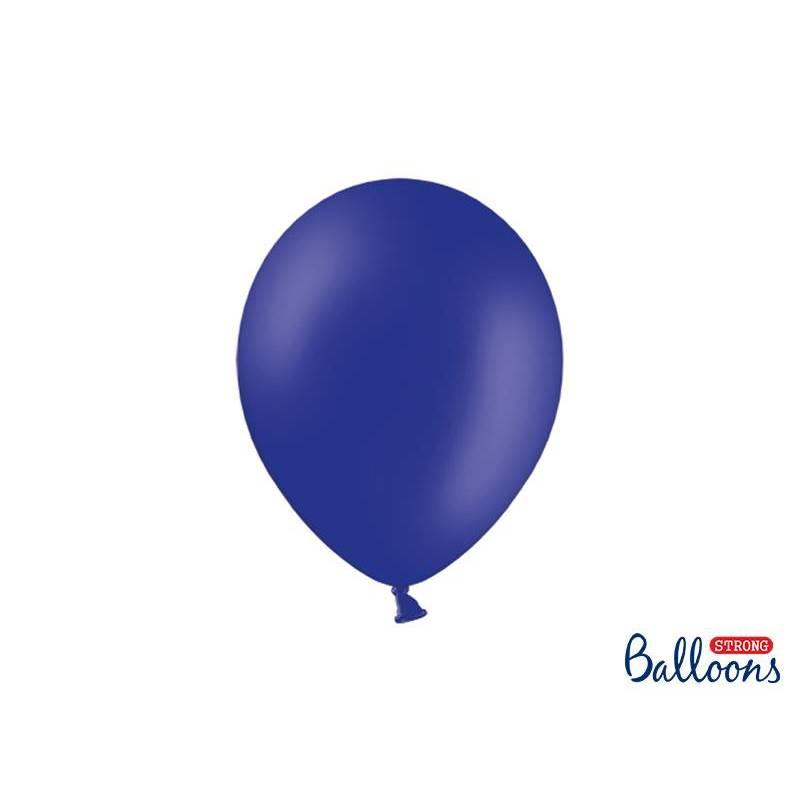 Ballons forts 27cm bleu royal pastel
