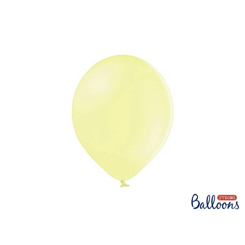 Ballons forts 27cm jaune pâle pastel