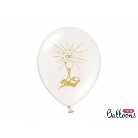 Ballons 27cm Sainte Communion Pastel Blanc Pur