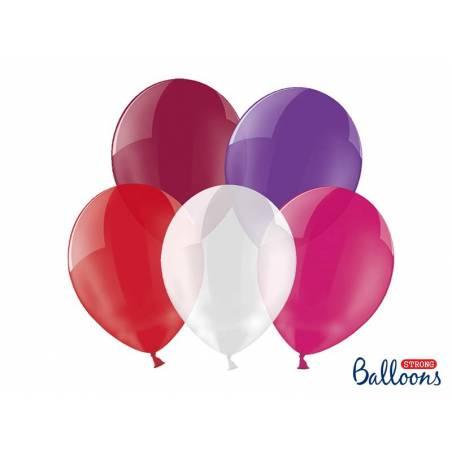 Ballons forts 30cm mélange de cristaux