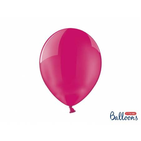 Ballons forts 30cm cristal rose vif