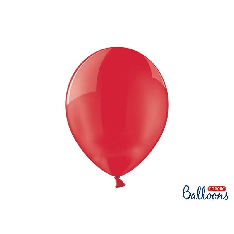 Ballons forts 30cm Crystal Poppy Red