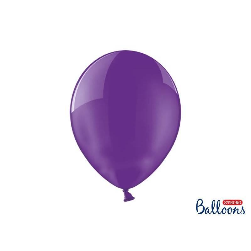 Ballons forts 30cm cristal violet