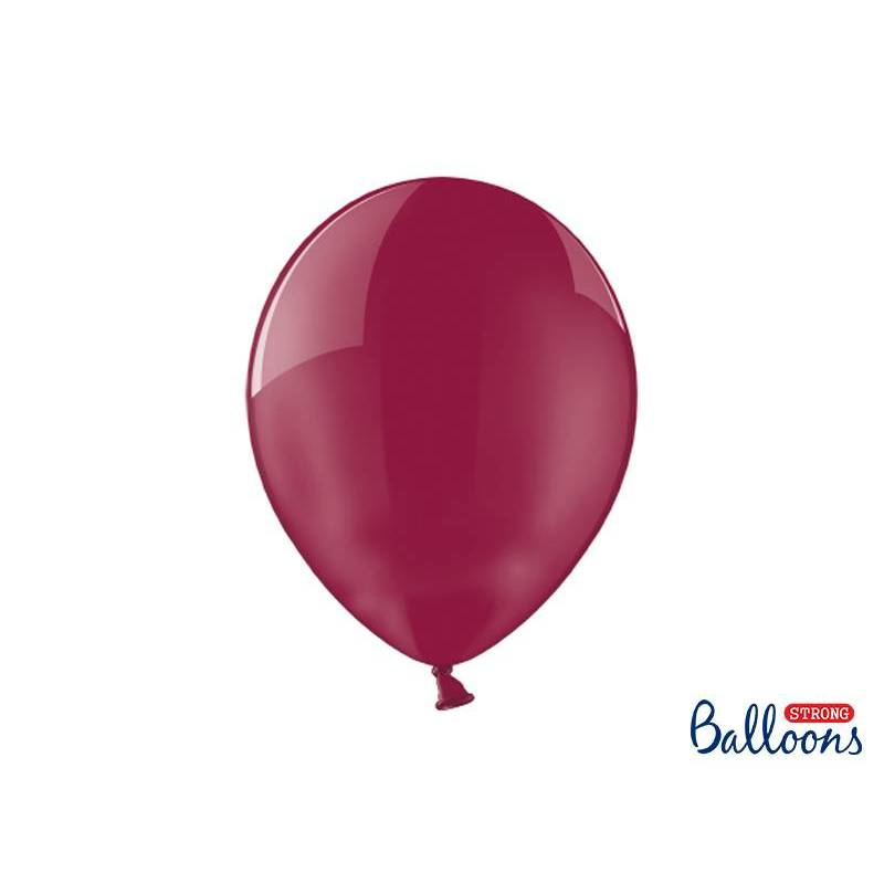 Ballons forts 30cm Crystal Maroon