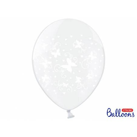 Ballons 30cm Papillons Transparent