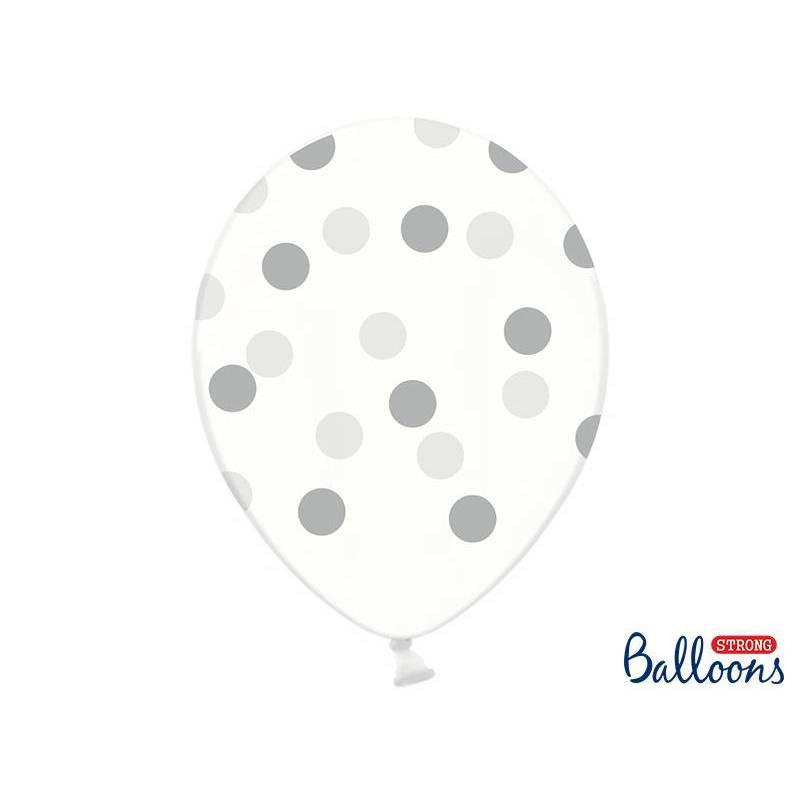 Ballons 30cm pois cristal