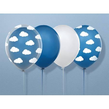 Ballons 30cm nuages limpide