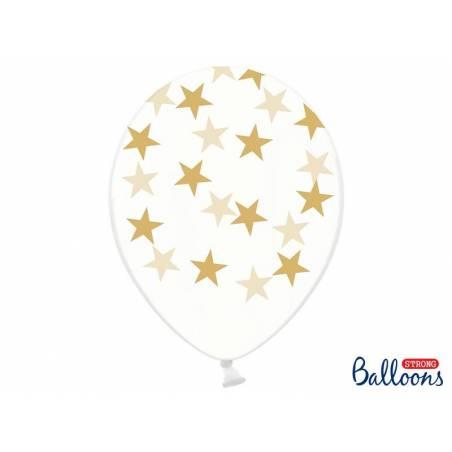 Ballons 30cm étoiles cristal