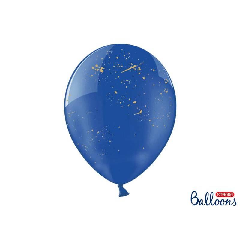 Ballons 30 cm Splash bleu cristal