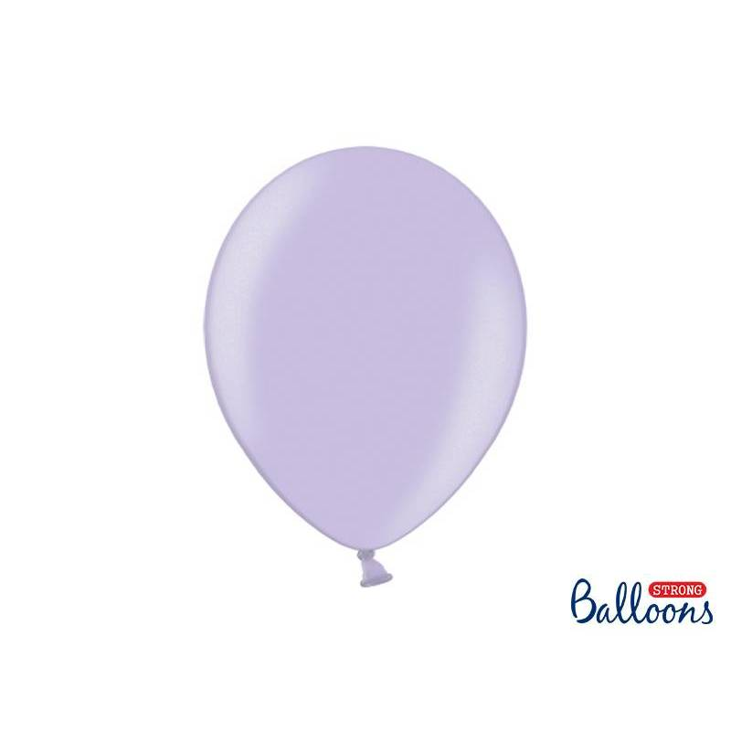 Ballons forts 30cm glycines métalliques
