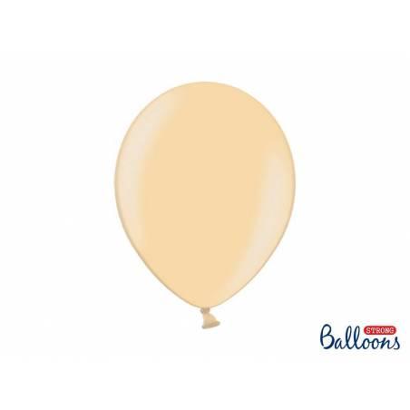 Ballons forts 30cm orange vif métallique