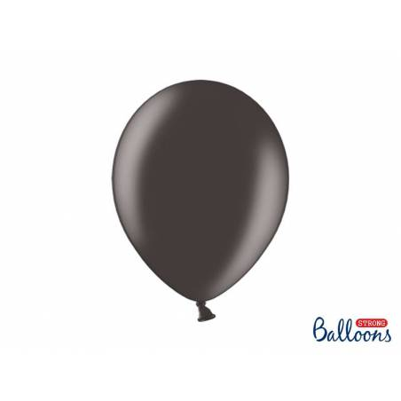 Ballons forts 30cm noir métallique