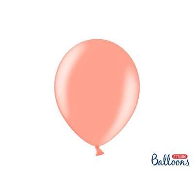 Ballons forts 30cm or rose métallique