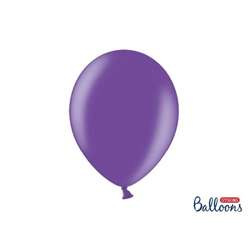 Ballons forts 30cm violet métallique