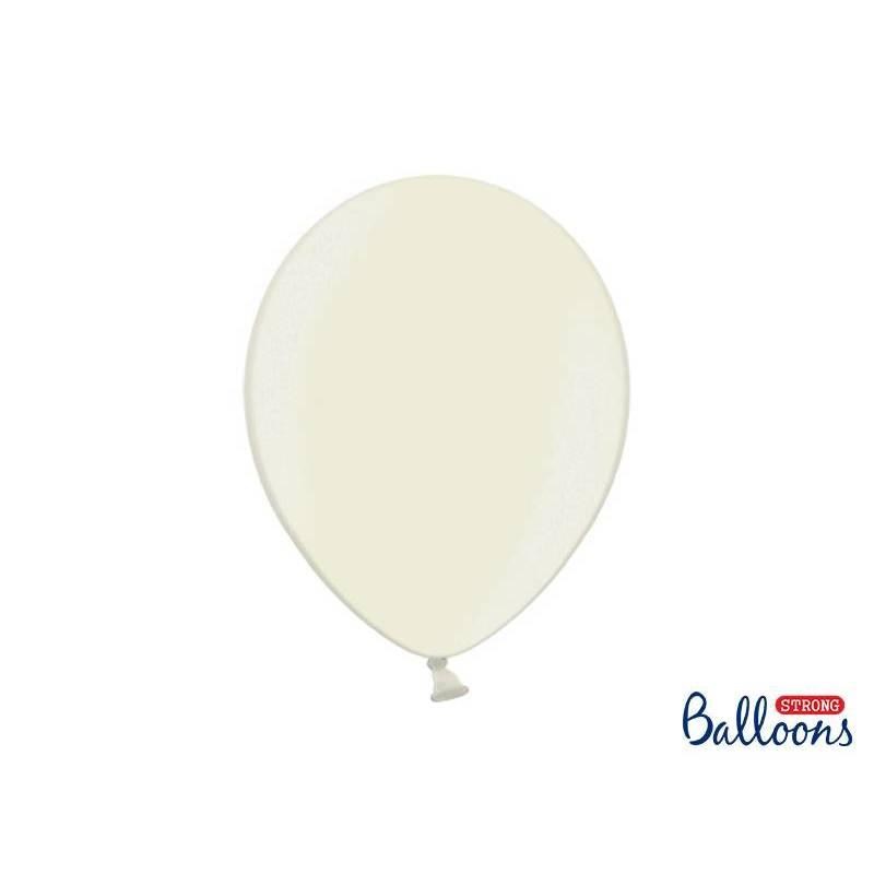 Ballons forts 30cm crème légère métallique