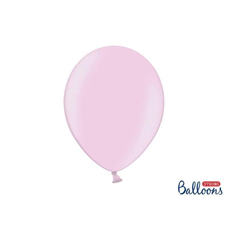 Ballons forts 30cm rose métallisé