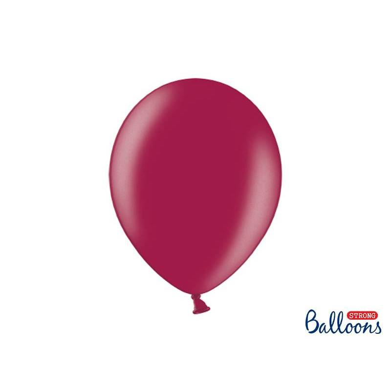 Ballons forts 30cm Bordeaux métallisé