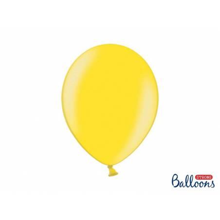 Ballons forts 30cm zeste de citron métallique