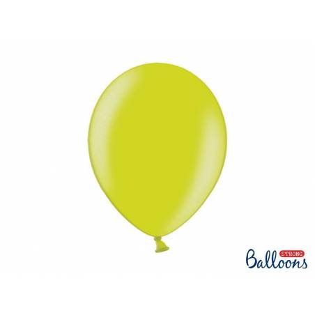 Ballons forts 30cm vert lime métallique