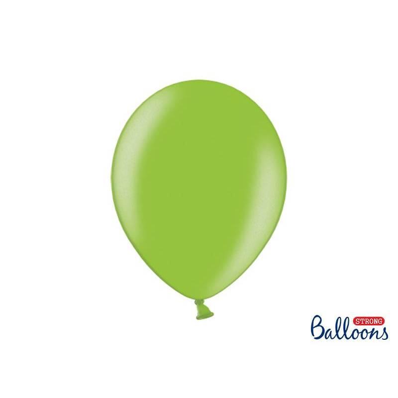 Ballons forts 30cm vert vif métallique