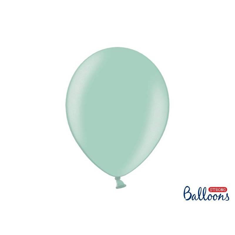 Ballons forts 30cm vert menthe métallisé
