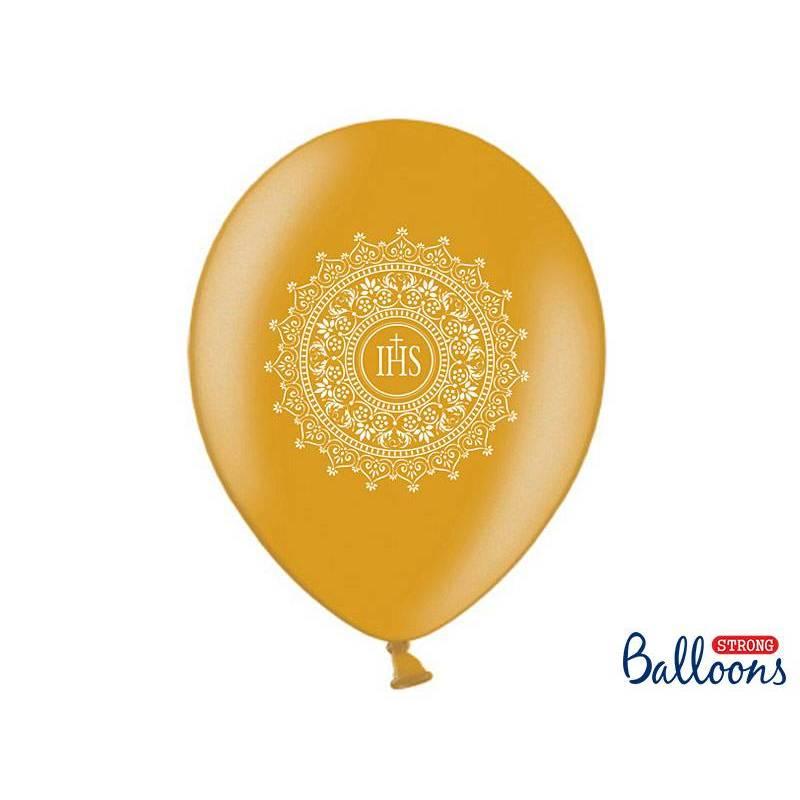 Ballons 30cm IHS Or Métallique